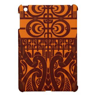 Cool symmetrical tribal Marquesas tattoo design iPad Mini Cover
