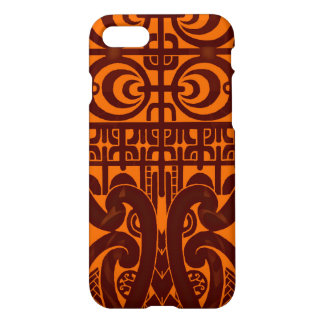 Cool symmetrical tribal Marquesas tattoo design iPhone 7 Case