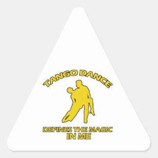 cool Tango dance designs Triangle Sticker