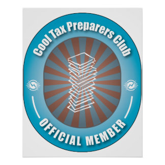 Cool Tax Preparers Club Poster