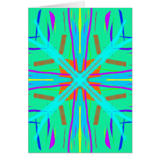 Cool Teal Aquamarine Contemporary Retro Card