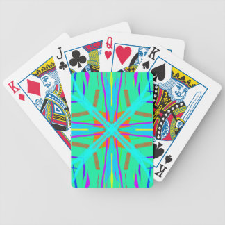 Cool Teal Aquamarine Contemporary Retro Poker Deck