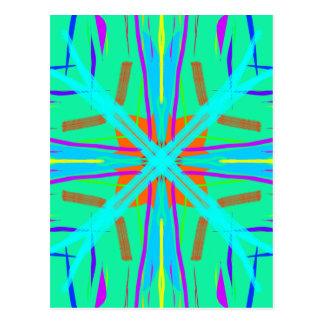 Cool Teal Aquamarine Contemporary Retro Postcard