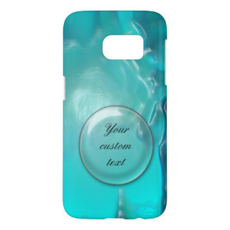Cool Teal Blue Liquid Plastic Design 1264