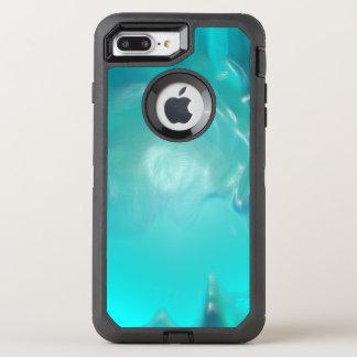 Cool Teal Blue Liquid Plastic Design OtterBox Defender iPhone 7 Plus Case