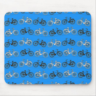 Cool Teal Turquoise Blue Vintage Bicycles Bikes Mouse Pad