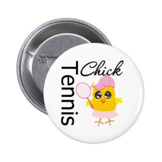 Cool Tennis Chick 6 Cm Round Badge