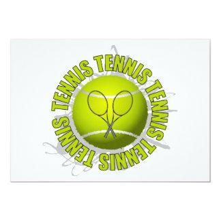 Cool Tennis Emblem 13 Cm X 18 Cm Invitation Card