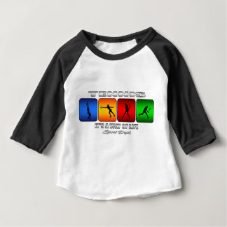 Cool Tennis It Is A Way Of Life (Female) Baby T-Shirt