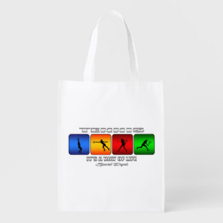 Cool Tennis It Is A Way Of Life (Female) Reusable Grocery Bag