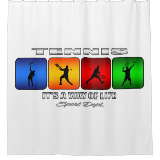 Cool Tennis It Is A Way Of Life (Male) Shower Curtain