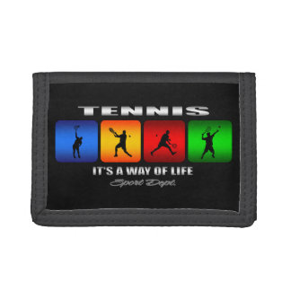 Cool Tennis It Is A Way Of Life (Male) Tri-fold Wallets