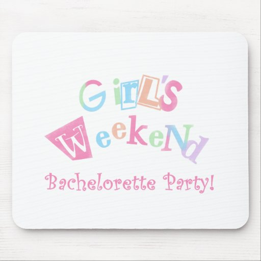 Cool Text Girls Weekend Bachelorette Party Mouse Mats