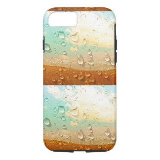 Cool texture, water droplets on colored stone iPhone 7 case