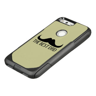 Cool The best Dad Black Moustache Father's Day OtterBox Commuter Google Pixel Case