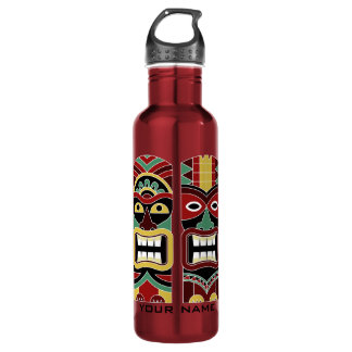 Cool Tiki Totems custom name water bottles
