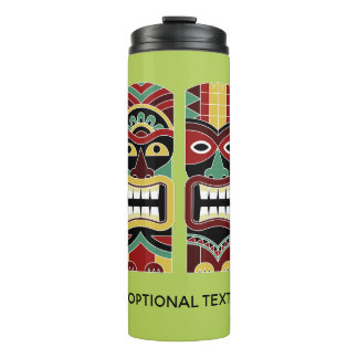 Cool Tiki Totems custom text & color tumbler