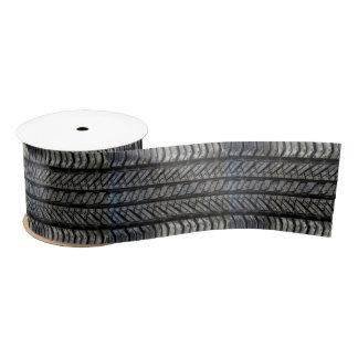 Cool Tire Rubber Automotive Texture Decor Satin Ribbon