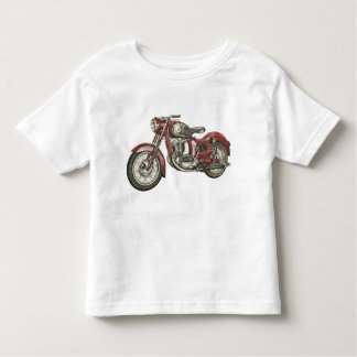 Cool Toddler T-shirt with Big Red Retro Motorbike