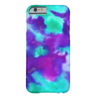 Cool Toned Watercolor Pattern in Purple &  Teal Barely There iPhone 6 Case