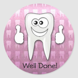 "Cool tooth  ""well done"" sticker"