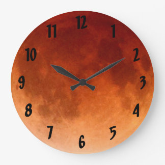 Cool Total Lunar Eclipse Blood Moon Clock