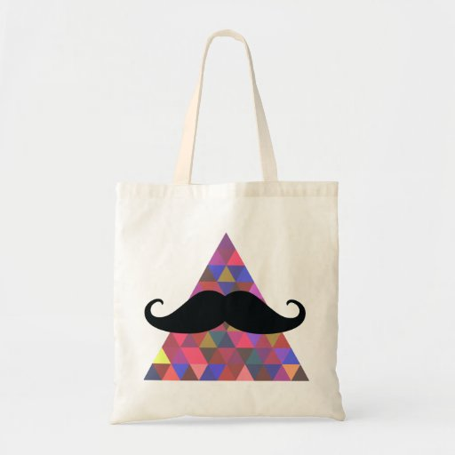 Cool Tote Bags | Moustache Tote Bags | Hipster