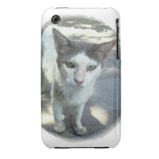 Cool Town Cat Green Eyes Gray Ears iPhone 3G/3GS iPhone 3 Case-Mate Case