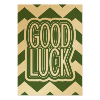Cool Tree Top – Good Luck - Chevron Pack Of Chubby Business Cards