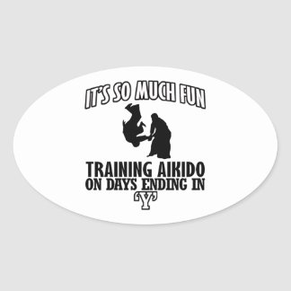 cool  Trending Aikido DESIGNS Oval Sticker