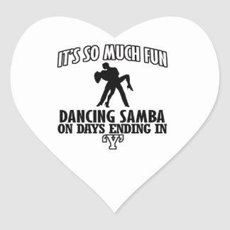 cool Trending Samba dance DESIGNS Heart Sticker