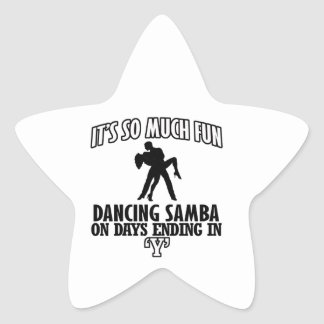 cool Trending Samba dance DESIGNS Star Sticker