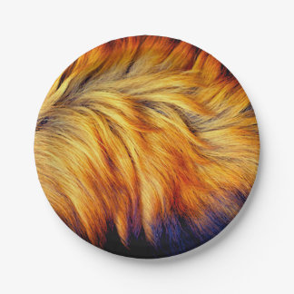 Cool Trendy Brown Horse fur texture design Paper Plate