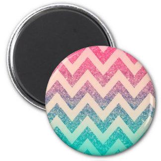 Cool Trendy Chevron Zigzag ,Ombre Glitter Magnet
