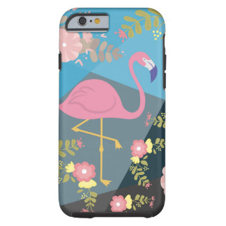 Cool Trendy Chic Cute Pink Girly Floral Flamingo Tough iPhone 6 Case