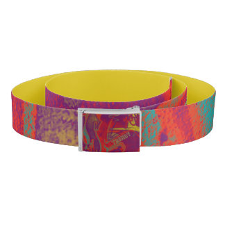 Cool trendy colorful urban graffiti design belt