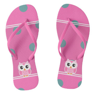 Cool Trendy Polka Dots With Cute Owl Thongs
