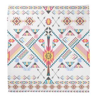 Cool trendy tribal ethnic geometric pattern kerchiefs