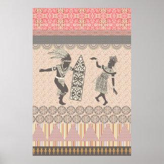 Cool trendy tribal ethnic geometric Poster