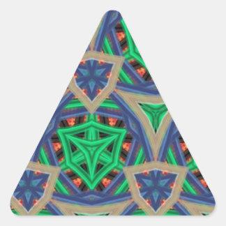Cool trendy unique pattern triangle sticker