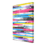 Cool trendy vibrant abstract paint stripes