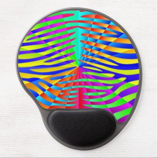 Cool trendy Zebra pattern colorful rainbow stripes Gel Mousepads