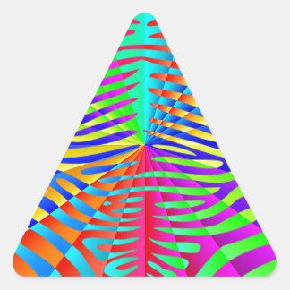 Cool trendy Zebra pattern colorful rainbow stripes Triangle Sticker