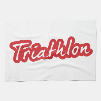 Cool Triathlon design Tea Towel