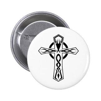 Cool Tribal cross tattoo design Buttons
