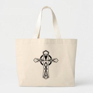Cool Tribal cross tattoo design Tote Bag