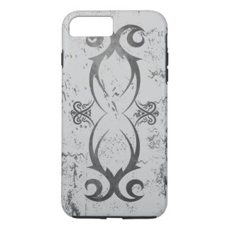 Cool Tribal Tattoo Black on White Grunge Durable iPhone 8 Plus/7 Plus Case