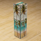 Cool Tropical Hawaiian Beach Palm Trees Wine Box
