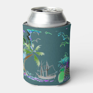 Cool Tropical Island Breeze Can Cooler