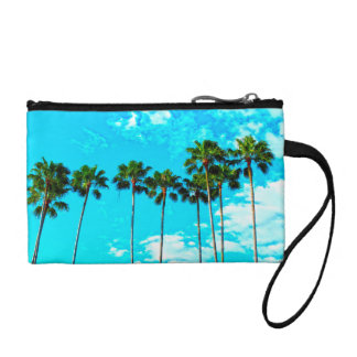 Cool Tropical Palm Trees Blue Sky Coin Purse